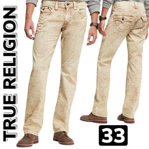 True Religion Ricky Sandstone Men's Jeans (33)